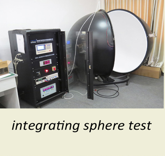 Integrating sphere test