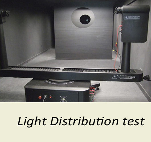 Light distribution test